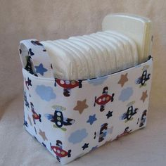 Items similar to READY TO SHIP - Fabric Organizer Storage Bin Container Basket - Camping Woodland Animals Fabric - Nursery Baby Room Decor on Etsy Basket Organization, Container Organization, Storage Containers, Box Storage, Fabric Storage Bins, Fabric Bins, Fabric Organizer, Fabric Basket, Pochette Portable Couture