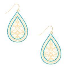gold-tone circle star dangle earrings