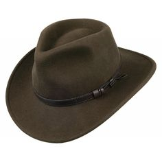 1c75115560d Buy the Jaxon   James Crushable Outback Hat - Olive at Village Hats. The  destination for hats and caps online.