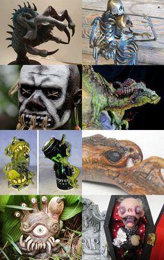 Kings of The Hill Monster #Etsy #Treasury #Monster #Creature #Gift #Decor #Art