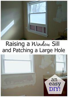 Kitchen Reno: Raising a Window Sill - CHATFIELD COURT