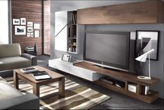 5 veces he visto estas espléndidas muebles minimalistas. Living Room Tv, Living Room Interior, Living Furniture, Furniture Design, Rack Tv, Tv Stand Designs, Muebles Living, Living Room Designs, Family Room