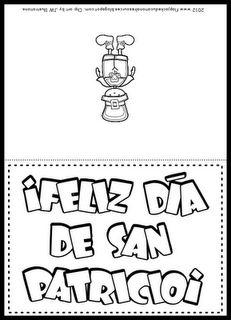 Spanish St. Patrick's Day greeting card.