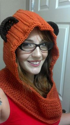 Omg i want one!!!  Ewok hooded Cowl Adult size via Etsy.