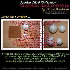 Arteira's Atelier - Artesanato em E.V.A: Passo a Passo da Boneca Fofucha em Eva com Molde