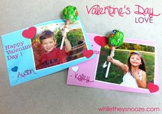 While They Snooze: Quick Kid Valentine's Day Cards for School Friends