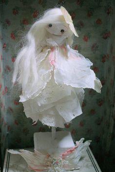 OOAK Art Doll - Mademoiselle Cocoon. via Etsy.