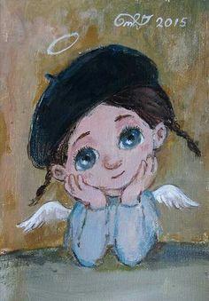 ნინო Painting For Kids, Painting & Drawing, Angel Crafts, Angel Pictures, Angel Art, Art Dolls, Modern Art, Cool Art, Street Art