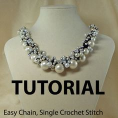 Crochet Pearl or Beaded Necklace Tutorial by ljeans