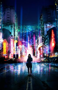 Cyberpunk city street urban environment architecture design concept art, cyberpunk illustration artworks, scifi city fantasy modern city movie poster design Jacked in by vaporization landscape location environment architecture Arte Cyberpunk, Cyberpunk City, Futuristic City, Cyberpunk Anime, Futuristic Architecture, Anime Scenery, Shadowrun, Sci Fi Fantasy, Sci Fi Art