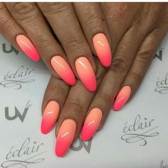 """If you're unfamiliar with nail trends and you hear the words """"coffin nails,"""" what comes to mind? It's not nails with coffins drawn on them. It's long nails with a square tip, and the look has. Perfect Nails, Gorgeous Nails, Pretty Nails, Nail Trends 2018, Gradient Nails, Ombre Nail, Nail Polish, Manicure E Pedicure, Hot Nails"""