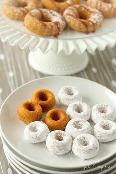 Two Ingredient mini-Pumpkin Donuts