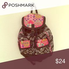 The perfect Festival backpack! Festival season is here. Don't be caught without the perfect carry-all for your essentials. This tribal backpack is available now for $24 Mossimo Supply Co. Bags Backpacks