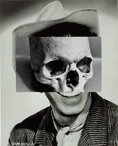 John Stezaker / we are all the same 2mm below the skin and the skull serves as a sobering reminder not to place too much importance to superficial looks and the skull also serves as a sobering reminder of our fleeting time we as organic humans have on this Earth !! ( Just saying !!)