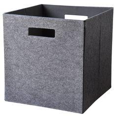 Opbevaringsboks til rumdeler i lys grå filt