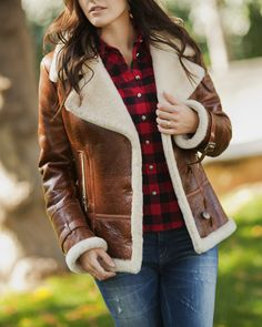 leather & shearling jacket