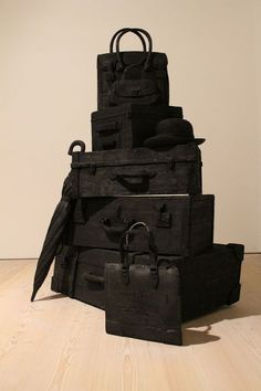 This is part of an exhibition but could it be the Adam's families luggage? #fashion