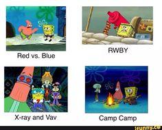 rwby, redvsblue, roosterteeth, campcamp, xrayandvav