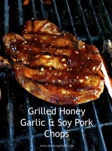 Grilled Honey Garlic & Soy Pork Chops