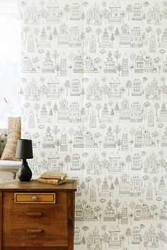 Puistolassa.: Lastenhuoneen tapetti Sandberg Kaspar Kids Room Wallpaper, Nursery Inspiration, Wall Murals, Baby Room, Children, Color, Home Decor, Rooms, Wallpapers