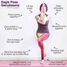 """1 Likes, 1 Comments - Laura Large (@omniyogagirl) on Instagram: """"For this week's #TriYogaSchool our focus is on #eaglepose or #garudasana  Eagle Pose opens the…"""""""