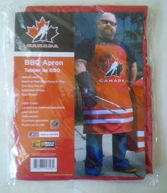 Ice Hockey Team Canada Barbecue BBQ Apron Only 100% Cotton (No Mitt Included) #GrillaCoversHockeyCanada