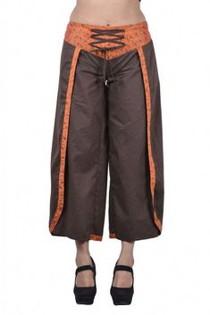 9c9dcc6faaaaf Shop Brown women short pants capris style women legging loose summer pants  on sale.