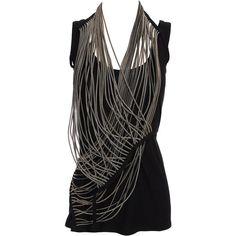 Ann Demeulemeester Zip Strand Waistcoat #black #style #fashion
