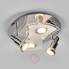 Rund LED-taklampe Marty, fire-armet-9950605-30