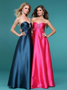 Shinny Satin A-line Style Strapless Full Length Evening Dress