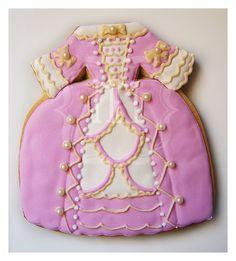 ♔ Maria Antonieta Cookie Crazy Cookies, Fancy Cookies, Cute Cookies, Cupcake Cookies, Elegant Cookies, Cupcakes, Cookie Frosting, Royal Icing Cookies, Cartoon Cookie