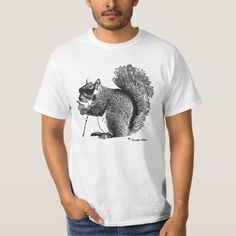 Even a Blind Squirrel Finds a Nut Once in a While T-shirt, Men's, Size: Adult L, White Shirt Maker, White Shop, Cool T Shirts, Funny Tshirts, Fitness Models, Shirt Designs, Blind, Unisex, Casual