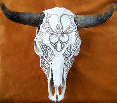 Decorative bull skull