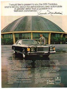 1978 Chrysler Cordoba adv.