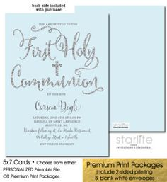 27 Best First Communion Invitations Boys Images First Communion