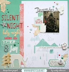 Hello and Happy Friday  Designer @wantenucci is up on our blog with a beautiful page inspired by our November moodboard  She used our #november2015 kits featuring @pinkfreshstudio @kjstarre #christmas #christmasmemories #christmaswishes #hipkits #hipkitclub