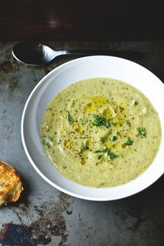 Roast Zucchini Soup with Stilton