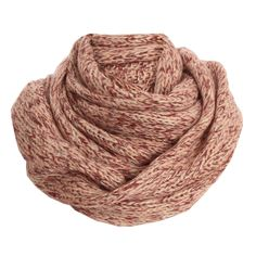 Vero Moda Burgundy Molly Knitted Snood Scarf