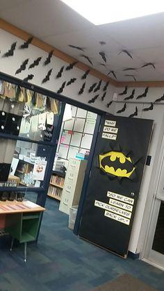 Batman classroom door