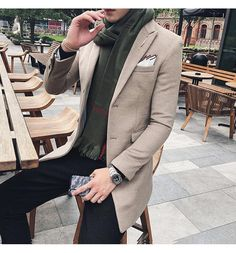 3e159d35fefaf Men's Long Blazer Vintage Retro Slim Fit Casual Wool Blend Long Blazer, Blazer  Suit,