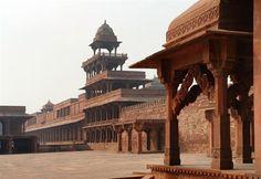 Fatehpur Sikri, India. An abandoned 16th-century town. Click through to check out more awesome ghost towns