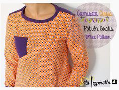 Srta.Pizpiretta: Camiseta Cirus: Patrón gratis/ Free Pattern