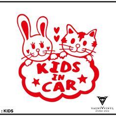 手書き風♪Kids/twin/Babyincarステッカー猫cat双子車ステッカーシールフィルムウインドウ/スーツケースサーフィンスノーボードカッティング/babyincarkidsベイビーインカーベビーキッズ/かわいい子供チャイルドオリジナル