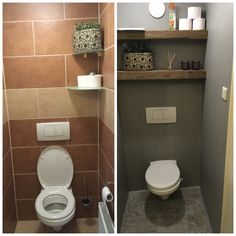 33 Brilliant RV Bathroom Remodel Ideas Before and After Toilet Room Decor, Small Toilet Room, Small Bathroom, Bathroom Ideas, Camper Bathroom, Bathroom Closet, Toilet Closet, Downstairs Toilet, Toilet Design