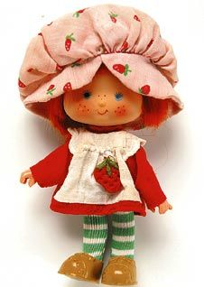 Strawberry shortcake, one of my fav dolls, loved the way she smelled of strawberries.