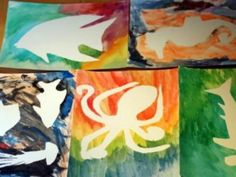 Cool project from www.kiwicrate.com/diy: Watercolor Resist Paintings: Under the Sea