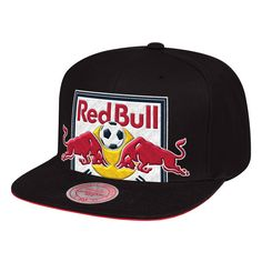 62828d050e6 New York Red Bulls Mitchell   Ness Cropped XL Snapback Adjustable Hat –  Black. MLS Caps   Hats
