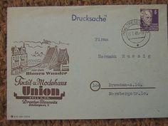 Union Textil und Modehaus, Dresden 1949
