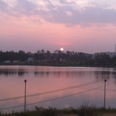 Uma's Blogs: Lake View Holiday Home - Vacation 2014 - Bangalore. Beautiful #sunset