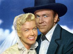 2/17/14  5:43p  Warner Bros Pictures ''Calamity Jane''   Doris Day Howard Keel Released: 1953   Cozy Couple Calam' and Wild Bill! virtual-history.com gettyimages.com